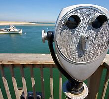 Chatham Fish Pier & Telescope by Christopher Seufert