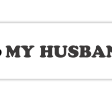 I Club My Husband Sticker