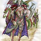 Akatra Elf Warrior by morgansartworld