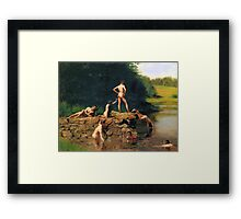The Swimming Hole by Thomas Eakins Framed Print