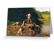 The Swimming Hole by Thomas Eakins Greeting Card