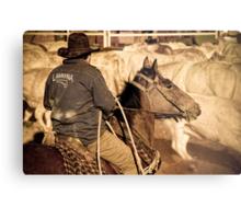 Catcher on Horse - Marla, South Australia Metal Print