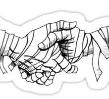 mummy handshake Sticker