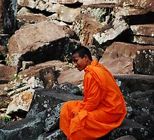 Angkor Monk by Baummer