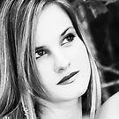 Headshot black white by Leta Davenport