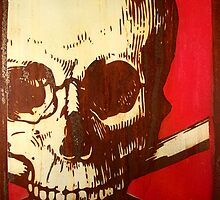 Skull on steel by rickdickinson