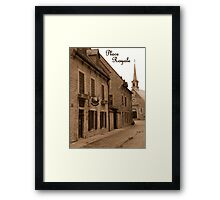 Perspective On Place Royale On A Rainy Day Framed Print