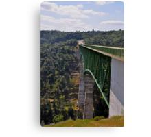 AMGEN 2010: Foresthill Bridge, Auburn California & highest bridge in California Canvas Print