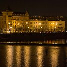 Nightscape from Charles Bridge # 2 (Prague) by ChrisHarvey67