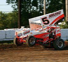 Sprint car Wheelie by racefan24