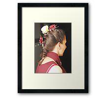 Bridal Hair Framed Print