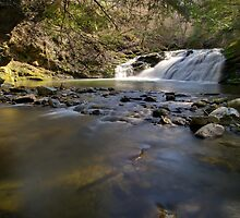 Falls Along Mill Brook - Under the Cliff by Stephen Beattie