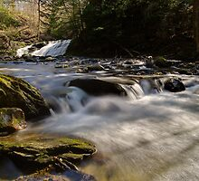 Falls Along Mill Brook - Rapids Below the Falls by Stephen Beattie