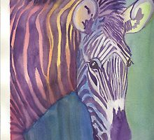 Multi Colored Zebra by ClaraM