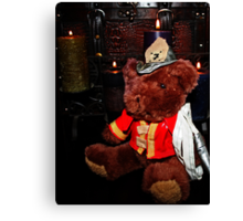 Teddy The Fireman Canvas Print