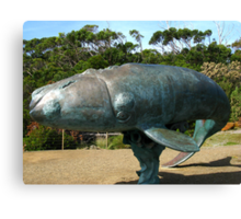 Sculpture of a Southern Right Whale Canvas Print