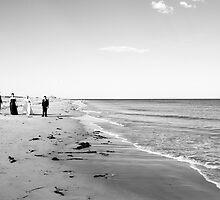 Strolling Along the Beach by Louisa Jones
