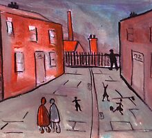 A Manchester Street Scene  by sword