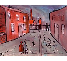 A Manchester Street Scene  Photographic Print