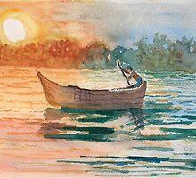 The Boatman by GEORGE SANDERSON