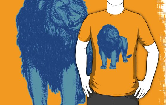 Light Blue Lion T-Shirts by Cheerful Madness!! by cheerfulmadness