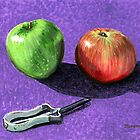 Apples and Peeler by bernzweig