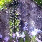 Garden Gate Painting by jpgilmore