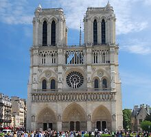 Notre-Dame (West Front) by Peter Reid