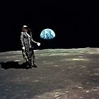 Armstrong on the Moon. (The earth blues) by rockko