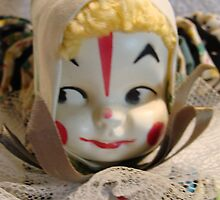 Little YoYo Clown Doll Close up by Linda Scott