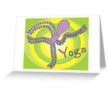 Octopus doing Yoga - Cosmic Dancer Greeting Card