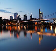 Frankfurt business district by Francesco Carucci