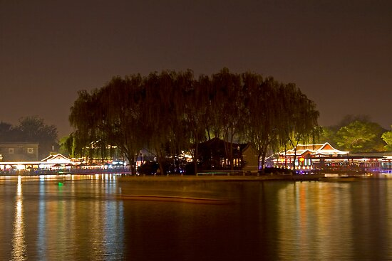 HouHai at Night by KLiu