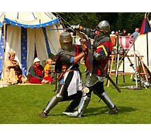 Battling knights at the village fayre Photographic Print