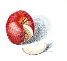 Red Apple by Marilyn Healey
