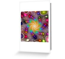 'Light Flame Abstract 288a' Greeting Card