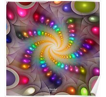 'Light Flame Abstract 288a' Poster