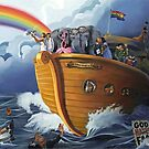 NOAH'S GAY WEDDING CRUISE, oil painting by Paul Richmond by Paul Richmond