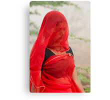 The Beauty in Red Veil. Canvas Print