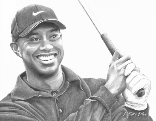 Tiger Woods by Kate Eller