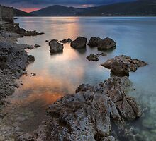 Rocks in the sunset by Lidija Lolic
