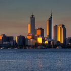 Perth At Sunset  by Nigel Donald