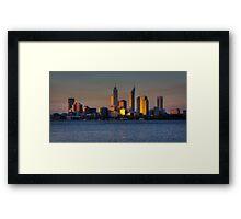 Perth At Sunset  Framed Print