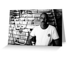 David C - Looking Out - B&W Greeting Card
