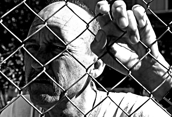 David C - Trapped - Harsh B&W by tmac