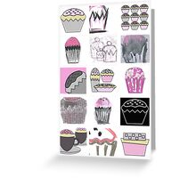 mixed media cupcakes  Greeting Card