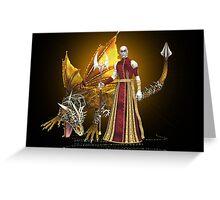 Dragon sorcerer Greeting Card