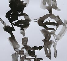 Ink Brush Portrait 10 by Josh Bowe