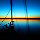 blue sunset sail by staci buchanan