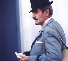 Would you buy so much as a lottery ticket from this gent? by Peter Stephenson